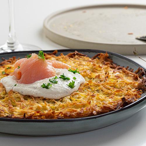 Kartoffelrösti mit Räucherlachs-Topping
