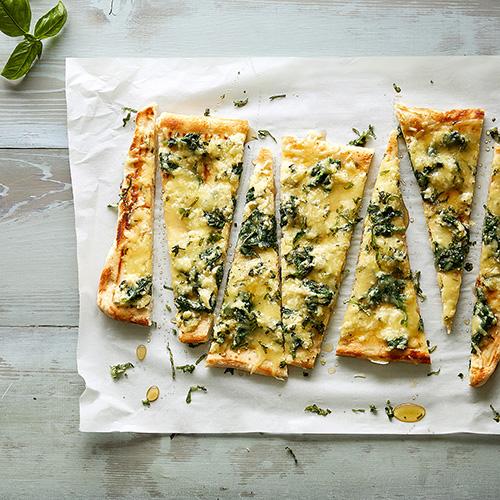 Spinat-Honig-Pizza